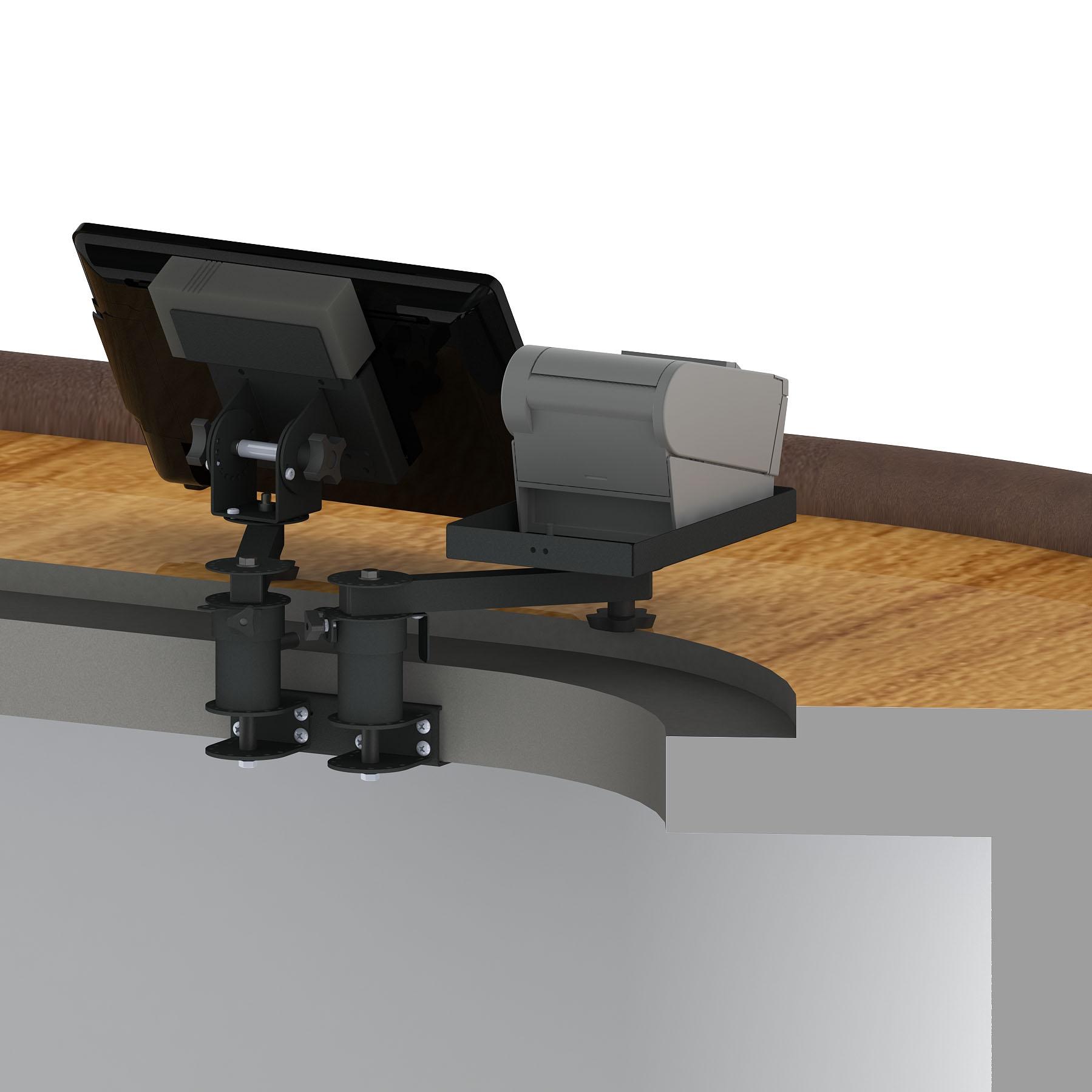 Shelf Edge Mounts for Screens and Printers